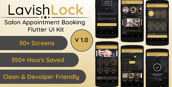 [Free Download] Lavish Lock – Flutter App UI Kit for Salon Appointment booking (Nulled) [Latest Version]