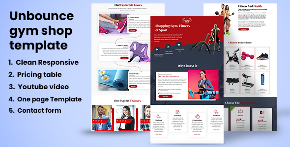 [Free Download] Gym shop –Unbounce Landing page (Nulled) [Latest Version]