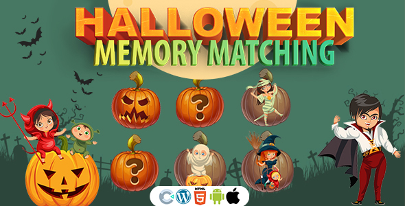 [Free Download] Halloween Memory Matching Game (Construct 3 | C3P | HTML5) Halloween Game (Nulled) [Latest Version]