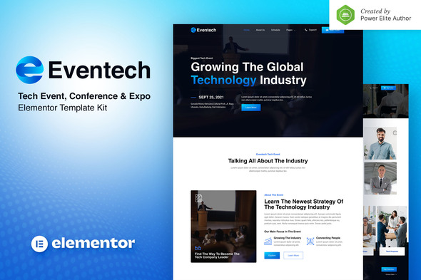 [Free Download] Eventech – Tech Event Conference & Expo Elementor Template Kit (Nulled) [Latest Version]