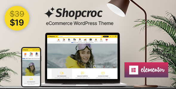 [Free Download] Shopcroc – WooCommerce WordPress Theme (Nulled) [Latest Version]