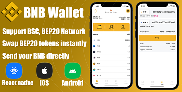 [Free Download] React Native – DeFi Crypto Wallet BNB, BEP20 (Nulled) [Latest Version]