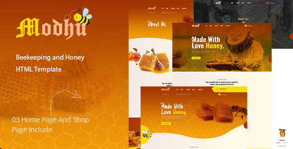 [Free Download] Modhu – Beekeeping and Honey HTML Template (Nulled) [Latest Version]