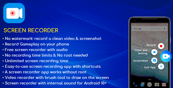 [Free Download] Screen Recorder Android App v1.0 (Nulled) [Latest Version]