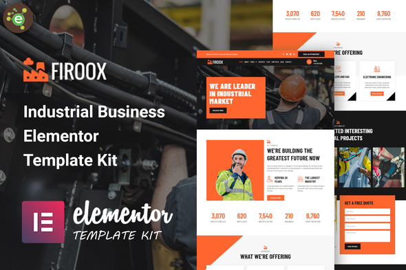 [Free Download] Firoox – Industrial Business Elementor Template Kit (Nulled) [Latest Version]