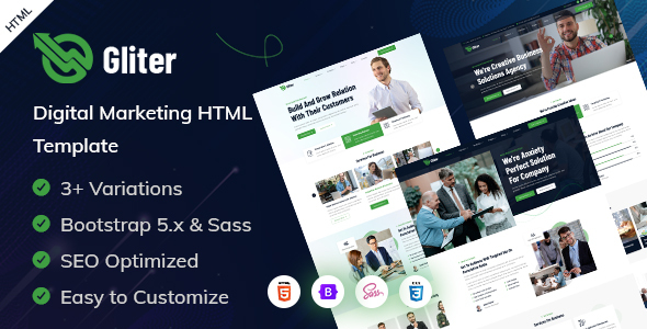 [Free Download] Gliter – Marketing Startup HTML Template (Nulled) [Latest Version]