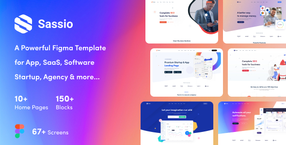 [Free Download] Sassio – App, SaaS, Software, Startup, Agency Figma Template (Nulled) [Latest Version]