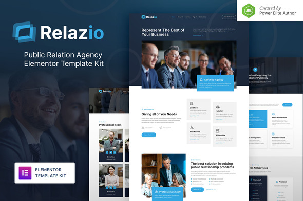 [Free Download] Relazio – Public Relation Agency Elementor Template Kit (Nulled) [Latest Version]