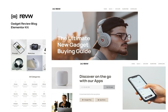[Free Download] Revw – Gadget Review Blog Elementor Template Kit (Nulled) [Latest Version]