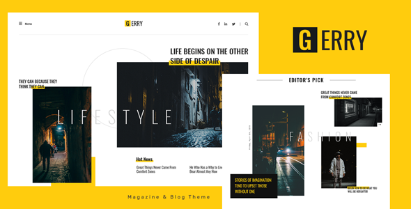 [Free Download] Gerry – Blog and Magazine Ghost Theme (Nulled) [Latest Version]