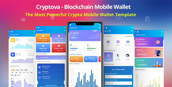 [Free Download] Cryptova – Blockchain App & Mobile Crypto Wallet (Nulled) [Latest Version]