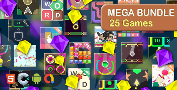 [Free Download] Mega Casual Game bundle – 25 Games(Html5 + Construct 3 +Mobile) (Nulled) [Latest Version]