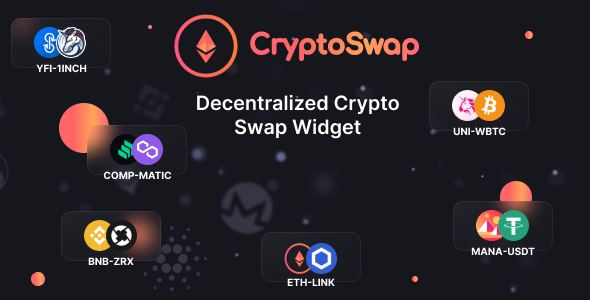 [Free Download] CryptoSwap – Cryptoсurrency Exchange Widget on Ethereum Blockchain (Nulled) [Latest Version]