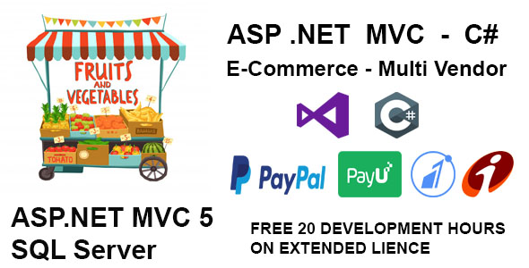[Free Download] Vegetables and fruits Multiple Vendor Shopping Website in MVC (Nulled) [Latest Version]